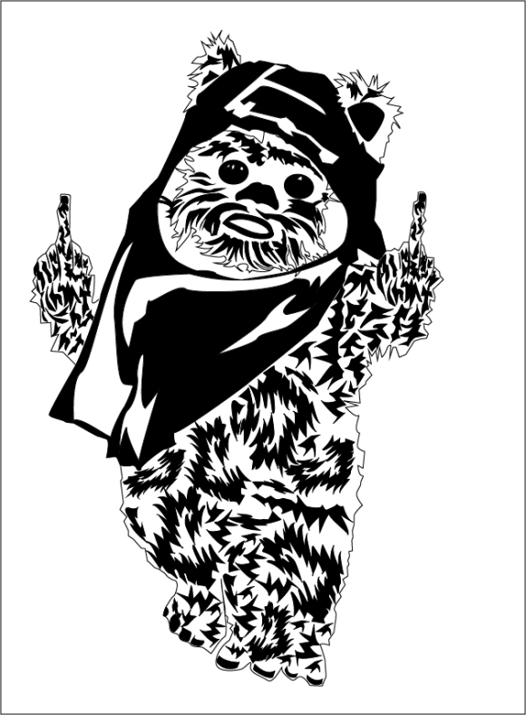 Ewok with an attitude!
